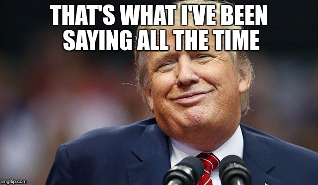 Trump Oopsie | THAT'S WHAT I'VE BEEN SAYING ALL THE TIME | image tagged in trump oopsie | made w/ Imgflip meme maker