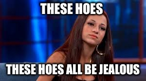 THESE HOES THESE HOES ALL BE JEALOUS | image tagged in cash me ousside how bow dah,memes | made w/ Imgflip meme maker