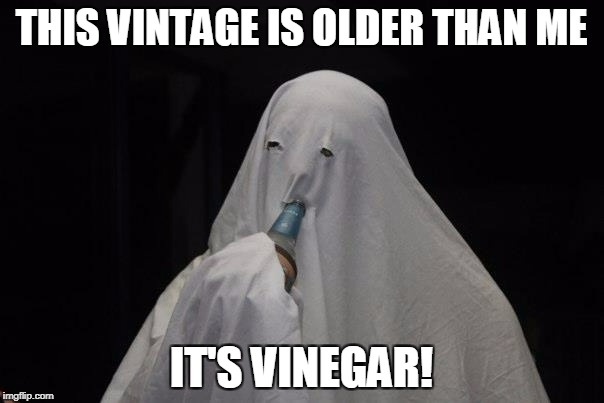 THIS VINTAGE IS OLDER THAN ME IT'S VINEGAR! | made w/ Imgflip meme maker