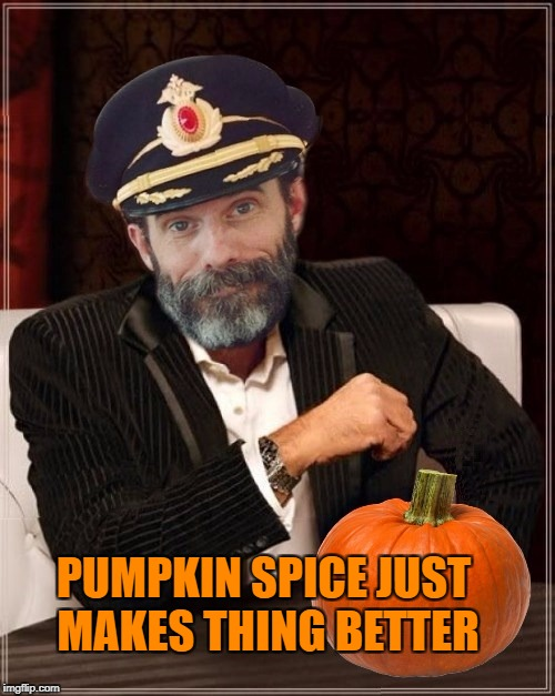 Most obviously interesting pumpkin | PUMPKIN SPICE JUST MAKES THING BETTER | image tagged in most obviously interesting pumpkin | made w/ Imgflip meme maker