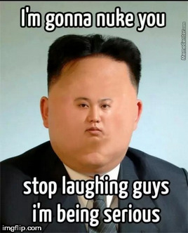 LOONEY BIN!   | .      . | image tagged in kim dung  loon,chicken  nugget,nukes | made w/ Imgflip meme maker