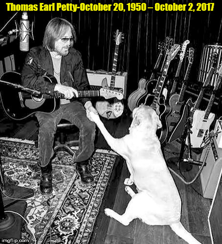 tom petty | Thomas Earl Petty-October 20, 1950 – October 2, 2017 | image tagged in tom petty,died | made w/ Imgflip meme maker
