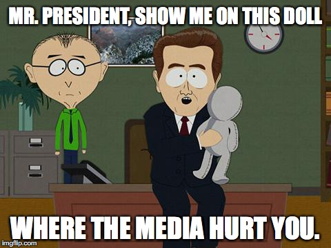 Show me on this doll | MR. PRESIDENT, SHOW ME ON THIS DOLL WHERE THE MEDIA HURT YOU. | image tagged in show me on this doll,donald trump,alternative facts | made w/ Imgflip meme maker