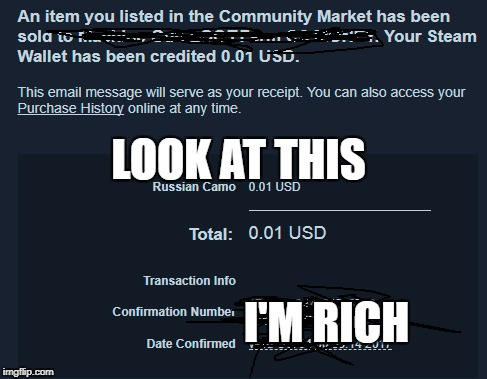 My thoughts when I got this email | LOOK AT THIS I'M RICH | image tagged in memes,rich,money,payday 2,steam | made w/ Imgflip meme maker