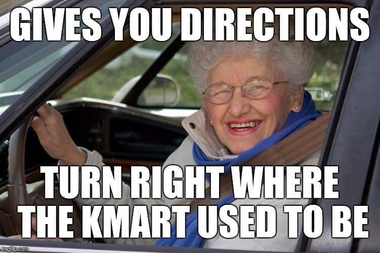 Old Lady In Car Memes Imgflip
