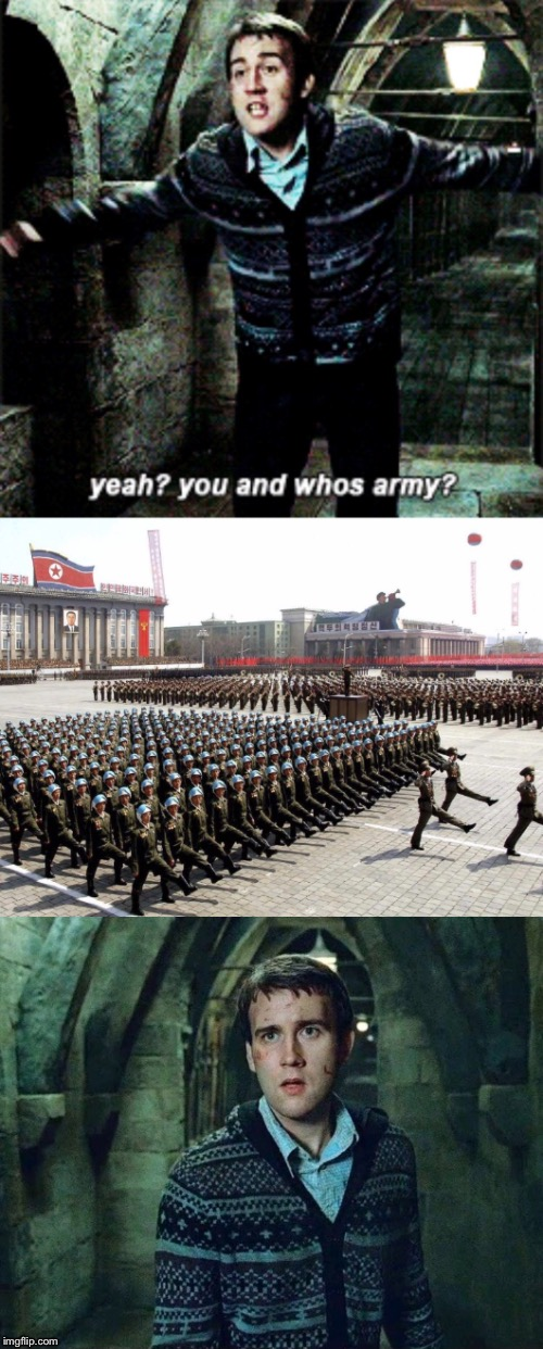 Neville Jung Un | image tagged in north korea,trump,bomb,harry potter,war,kim jung un | made w/ Imgflip meme maker