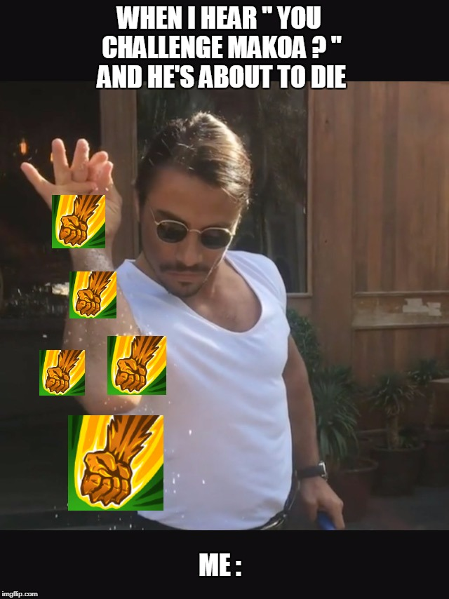 "Lizard from Paladins xD | WHEN I HEAR "" YOU CHALLENGE MAKOA ? "" AND HE'S ABOUT TO DIE ME : 