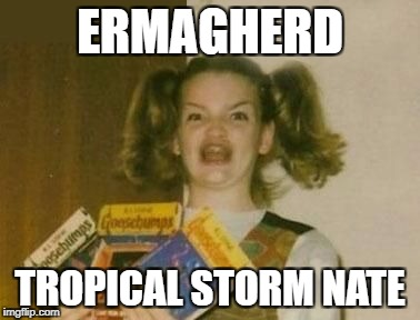 Ermagherd Wide | ERMAGHERD TROPICAL STORM NATE | image tagged in ermagherd wide | made w/ Imgflip meme maker