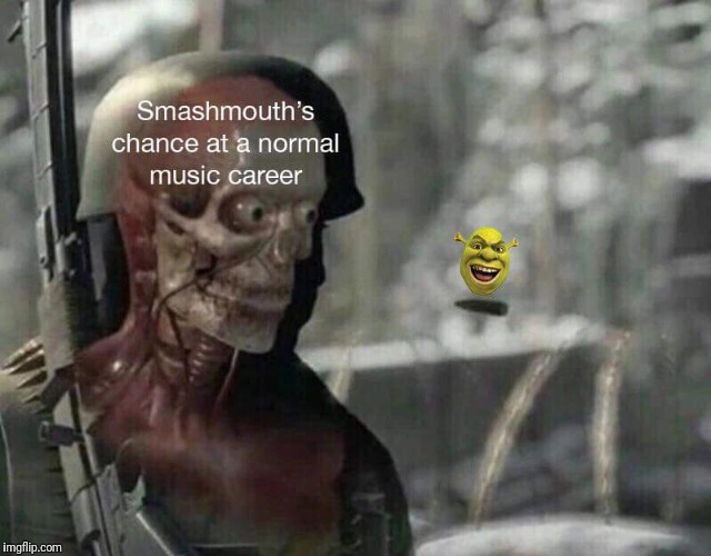 Musical memes | image tagged in shrek,elite,sniper,careers,music joke,bands | made w/ Imgflip meme maker