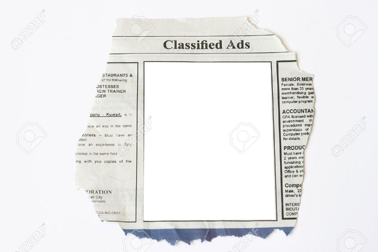 Free newspaper templates print and digital newspaper classified ad.