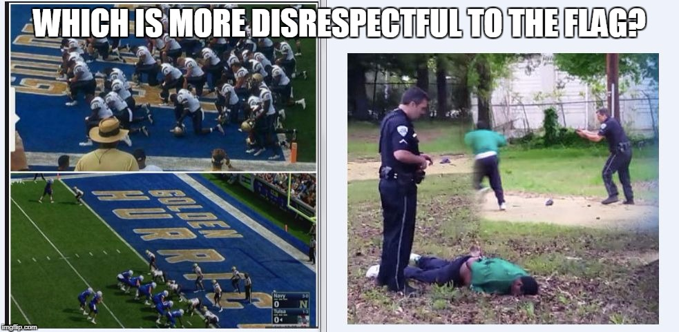 WHICH IS MORE DISRESPECTFUL TO THE FLAG? | image tagged in moredisrespectful | made w/ Imgflip meme maker