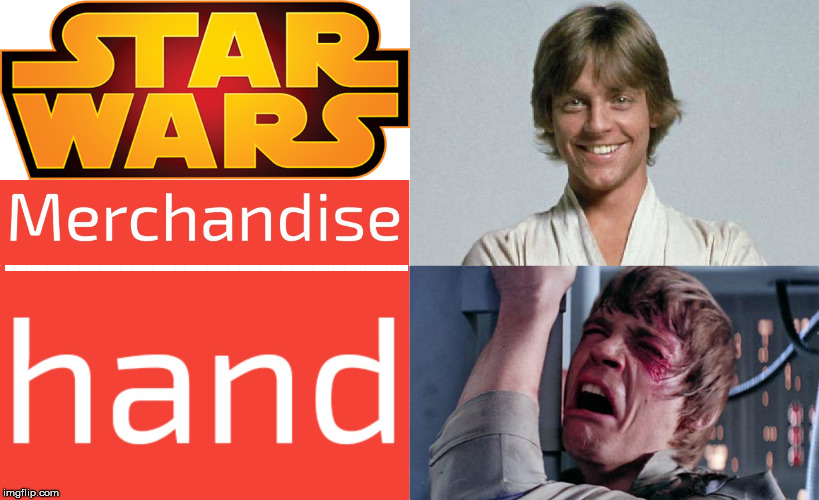 -------------------------------------- | image tagged in star wars,luke skywalker,luke nooooo | made w/ Imgflip meme maker