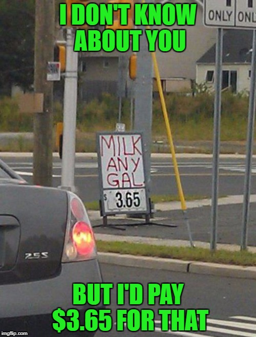 "It's not just the milk, it's the ""EXPERIENCE""!!! 