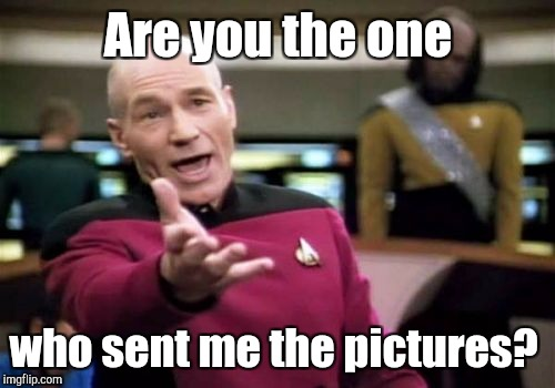 Picard Wtf Meme | Are you the one who sent me the pictures? | image tagged in memes,picard wtf | made w/ Imgflip meme maker
