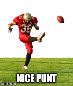 NICE PUNT | made w/ Imgflip meme maker