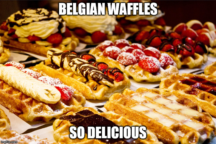 BELGIAN WAFFLES SO DELICIOUS | made w/ Imgflip meme maker