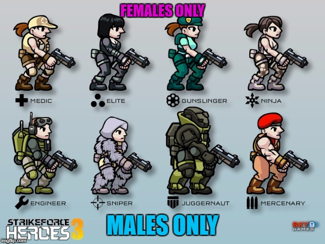 FEMALES ONLY MALES ONLY | made w/ Imgflip meme maker