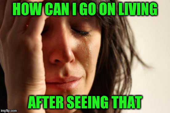 First World Problems Meme | HOW CAN I GO ON LIVING AFTER SEEING THAT | image tagged in memes,first world problems | made w/ Imgflip meme maker