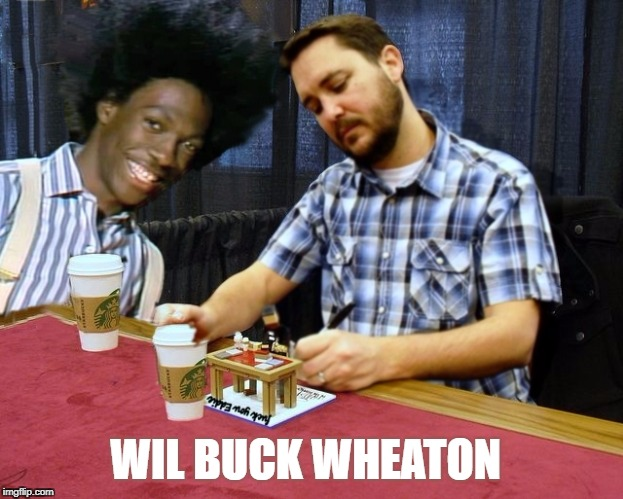 It's Wil Buck Wheaton | WIL BUCK WHEATON | image tagged in wil buck wheaton,please stand up,bide bide lets go buck,will buck rogers nelson wheaton smith,funny,memes | made w/ Imgflip meme maker