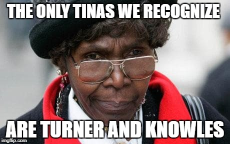 THE ONLY TINAS WE RECOGNIZE ARE TURNER AND KNOWLES | made w/ Imgflip meme maker