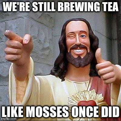 WE'RE STILL BREWING TEA LIKE MOSSES ONCE DID | made w/ Imgflip meme maker