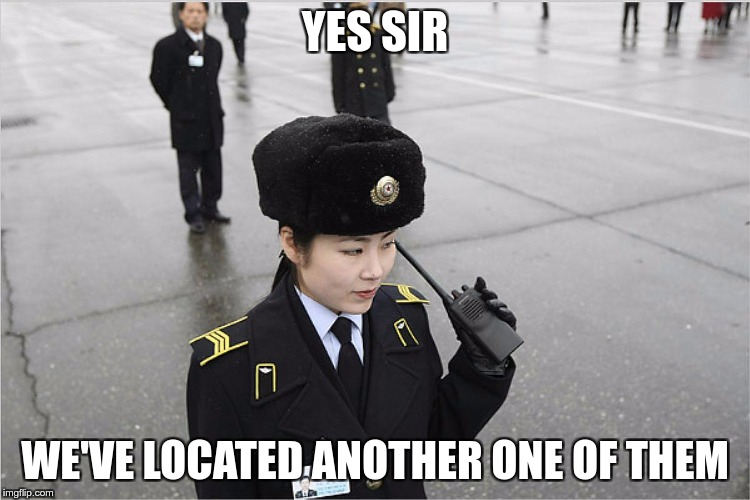 north korea | YES SIR WE'VE LOCATED ANOTHER ONE OF THEM | image tagged in north korea | made w/ Imgflip meme maker
