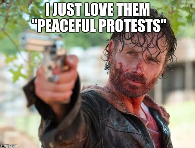 "The Walking Dead Gun | I JUST LOVE THEM ""PEACEFUL PROTESTS"" 