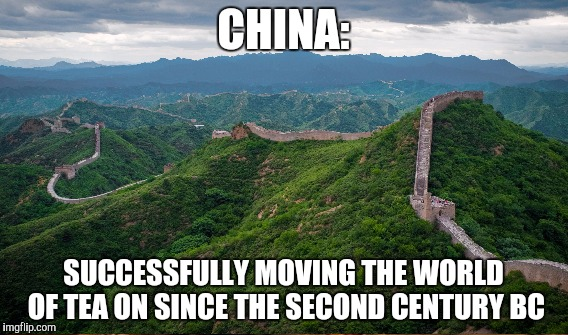 CHINA: SUCCESSFULLY MOVING THE WORLD OF TEA ON SINCE THE SECOND CENTURY BC | made w/ Imgflip meme maker