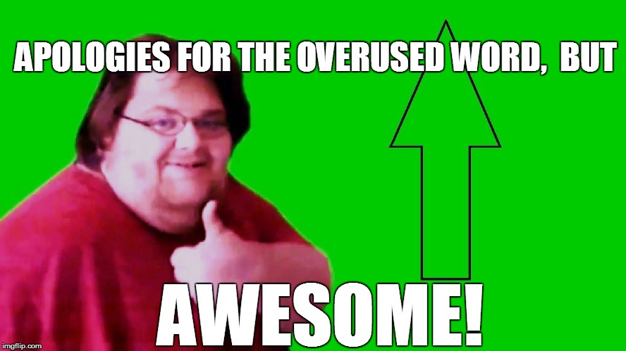 APOLOGIES FOR THE OVERUSED WORD,  BUT AWESOME! | made w/ Imgflip meme maker