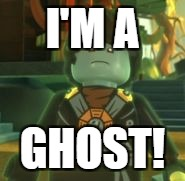 I'M A GHOST! | image tagged in ghost cole ninjago | made w/ Imgflip meme maker