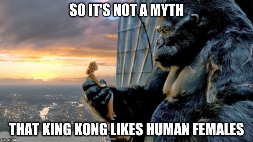 SO IT'S NOT A MYTH THAT KING KONG LIKES HUMAN FEMALES | made w/ Imgflip meme maker