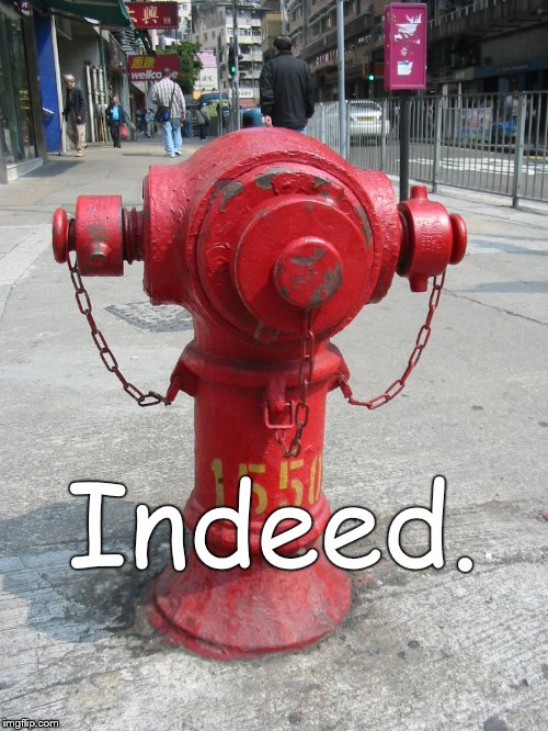 fire hydrant number 1550 | Indeed. | image tagged in fire hydrant number 1550 | made w/ Imgflip meme maker