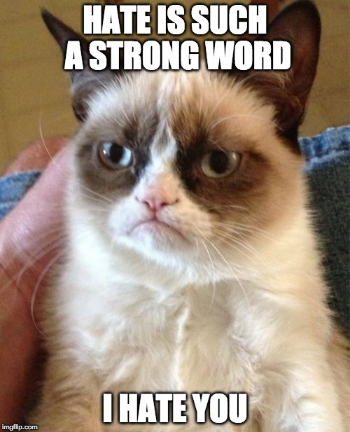 "I almost said, 'But not strong enough for my feelings towards you."" I thought less was more here. 