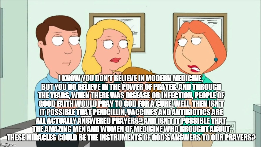 Family Guy Gets Real On Christian Science Imgflip