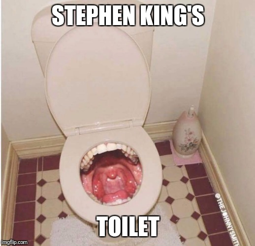 Where It goes bm | STEPHEN KING'S TOILET | image tagged in toilet,stephen king | made w/ Imgflip meme maker