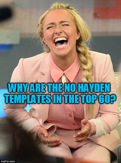 WHY ARE THE NO HAYDEN TEMPLATES IN THE TOP 60? | made w/ Imgflip meme maker