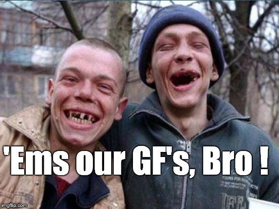 'Ems our GF's, Bro ! | made w/ Imgflip meme maker