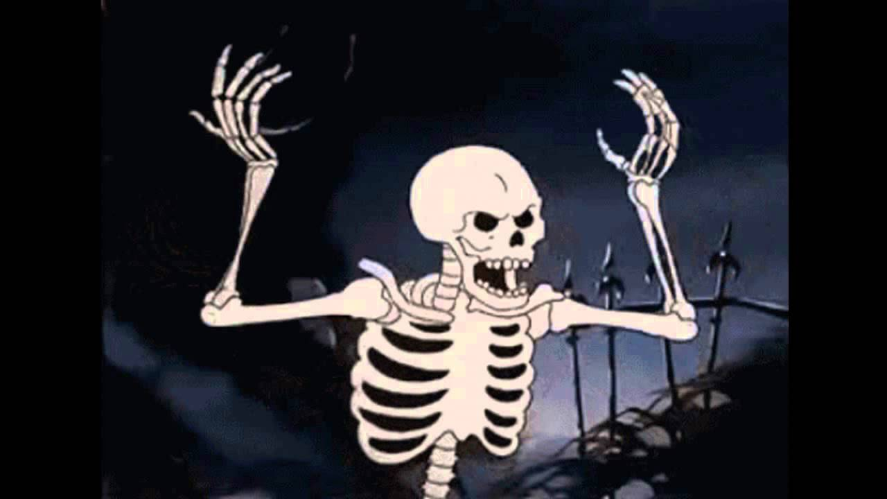 High Quality Spooky Skeleton Blank Meme Template