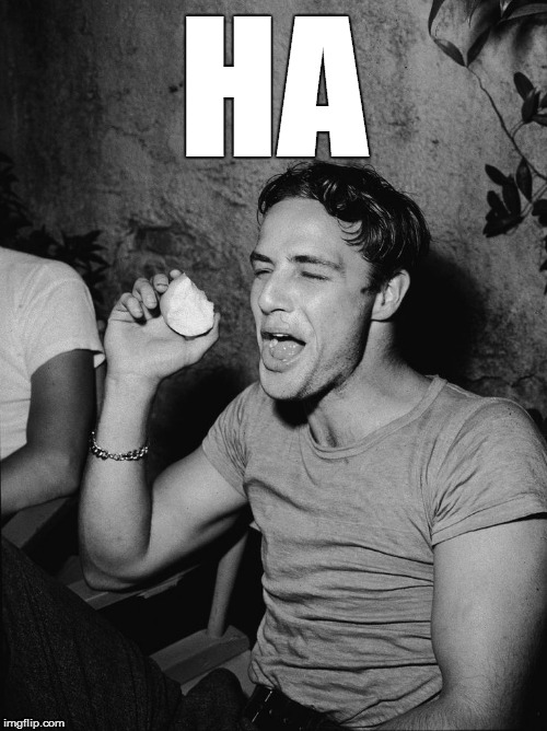 Brando | HA | image tagged in brando | made w/ Imgflip meme maker