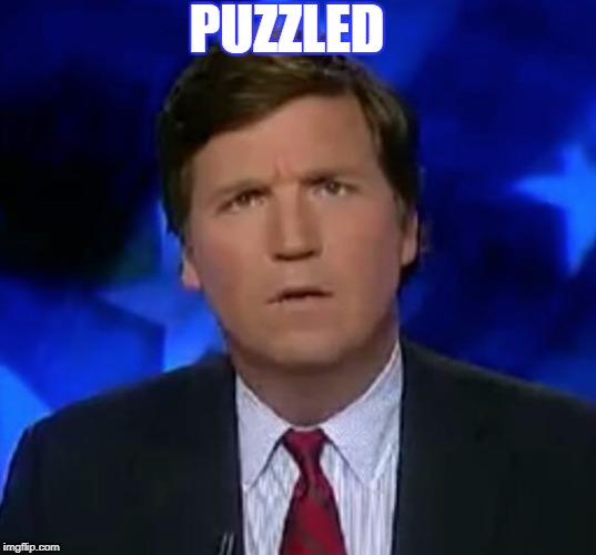 I am | PUZZLED | image tagged in tucker puzzled,mother of the tucks,back flipping to the music,ding dong the tucker is on,whoop te dooo vassell memes,funny | made w/ Imgflip meme maker