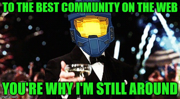 Trying to comeback | TO THE BEST COMMUNITY ON THE WEB YOU'RE WHY I'M STILL AROUND | image tagged in cheers ghost,will i have time to comment,spursfanfromaround,community | made w/ Imgflip meme maker