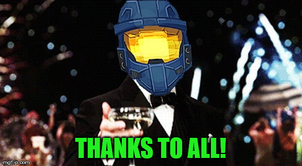 Cheers Ghost | THANKS TO ALL! | image tagged in cheers ghost | made w/ Imgflip meme maker