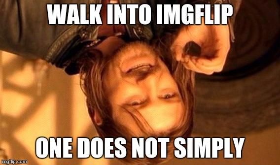 One Does Not Simply Meme | WALK INTO IMGFLIP ONE DOES NOT SIMPLY | image tagged in memes,one does not simply | made w/ Imgflip meme maker