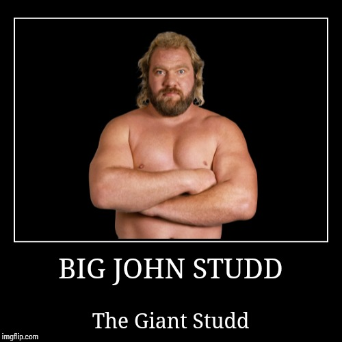 Big John Studd | BIG JOHN STUDD | The Giant Studd | image tagged in wwe | made w/ Imgflip demotivational maker