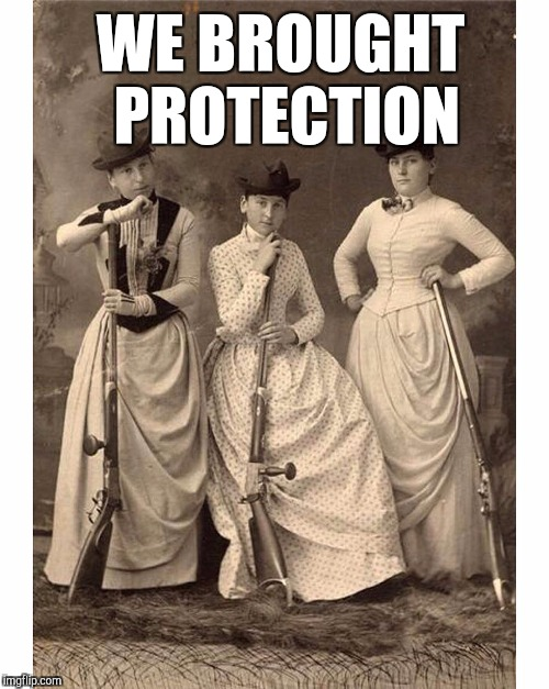 WE BROUGHT PROTECTION | made w/ Imgflip meme maker