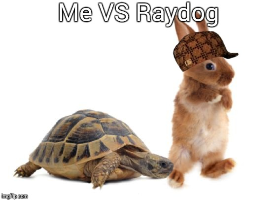 Me VS Raydog | image tagged in hare turtle,scumbag | made w/ Imgflip meme maker