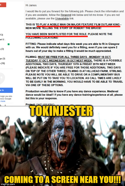 watch out hollywood!!! | TOKINJESTER COMING TO A SCREEN NEAR YOU!!! | image tagged in tokinjester,movie star,move bitch get out the way | made w/ Imgflip meme maker