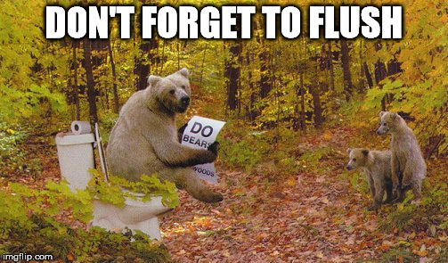 DON'T FORGET TO FLUSH | made w/ Imgflip meme maker