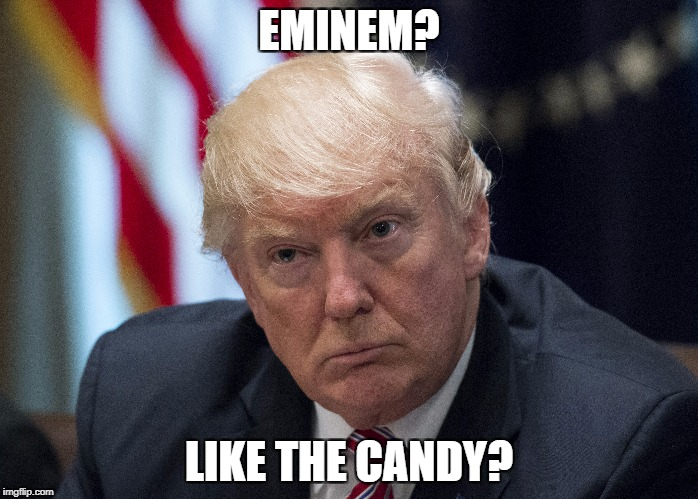 Like the Candy? | EMINEM? LIKE THE CANDY? | image tagged in funny,memes,maga | made w/ Imgflip meme maker