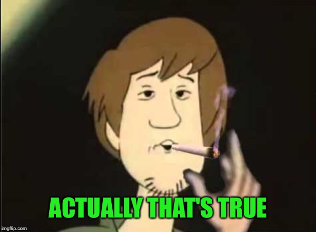 Shaggy joint | ACTUALLY THAT'S TRUE | image tagged in shaggy joint | made w/ Imgflip meme maker